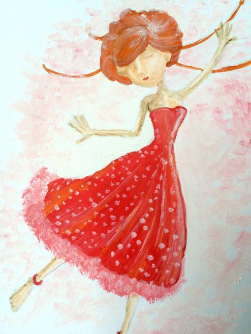 illustratie danseres te koop hanneke van der meer somoiso cadeau kinderkamer